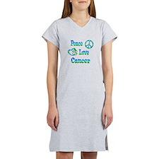 Peace Love Cancer Women's Nightshirt