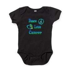 Peace Love Cancer Baby Bodysuit