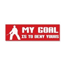 My Goal, Field Hockey Goalie Car Magnet 10 x 3
