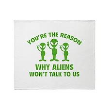 Why Aliens Won't Talk To Us Stadium Blanket