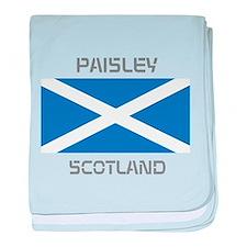 Paisley Scotland baby blanket