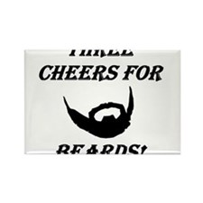 Three Cheers For Beards! Rectangle Magnet