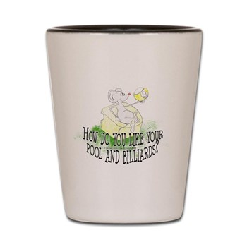 OTC Billiards Mouse Cartoon Shot Glass, novelty gift idea