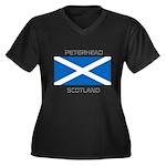 Peterhead Scotland Women's Plus Size V-Neck Dark T