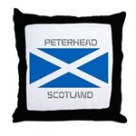 Peterhead Scotland Throw Pillow