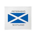 Peterhead Scotland Throw Blanket