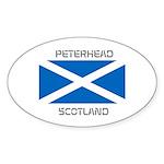 Peterhead Scotland Sticker (Oval 10 pk)