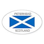 Peterhead Scotland Sticker (Oval 50 pk)