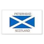 Peterhead Scotland Sticker (Rectangle 50 pk)