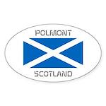Polmont Scotland Sticker (Oval)