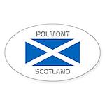 Polmont Scotland Sticker (Oval 10 pk)