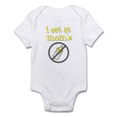 i eat at mom's yellow Infant Bodysuit