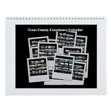 Texas 254 County Courthouse Wall Calendar