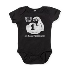 1 Year Old Body Builder Baby Bodysuit