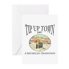 MICHIGAN TIP UP TOWN Greeting Cards (Pk of 10)