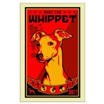 Obey the Whippet! large dog Poster