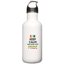 Keep Calm and show your PRIDE Water Bottle
