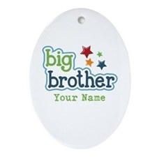 Personalized Big Brother Ornament (Oval)