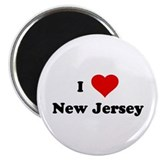 "I Love New Jersey 2.25"" Magnet (10 pack)"