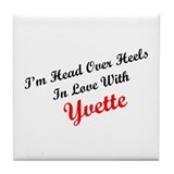 In Love with Yvette Tile Coaster