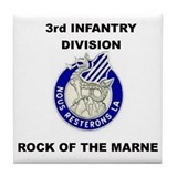 3rd Infantry Division Tile Coaster