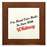 In Love with Whitney Framed Tile