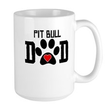 Pit Bull Dad Mugs