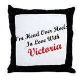 In Love with Victoria Throw Pillow