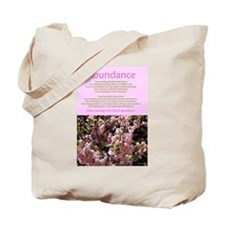 Abundance affirmations Tote Bag