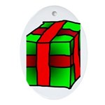 Gift Oval Ornament