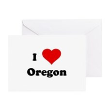 I Love Oregon Greeting Cards (Pk of 10)