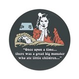 Retro Storyteller Parent Ornament (Round)