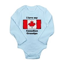 I Love My Canadian Grandpa Body Suit