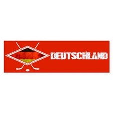 Eishockey Deutsche Flag Bumper Bumper Sticker