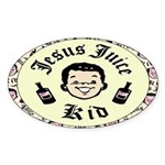 Jesus Juice Oval Sticker