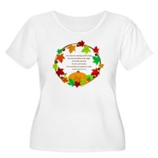Thanksgiving Wreath Plus Size T-Shirt