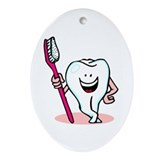 Happy Toothbrush Dentist / Dental Hygienist Orname