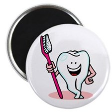 Happy Toothbrush Dentist / Dental Hygienist Magnet