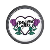 Forever Yours P Roses Wall Clock