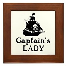 Captains Lady Framed Tile