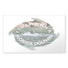...Florida Dolphin... Rectangle Decal