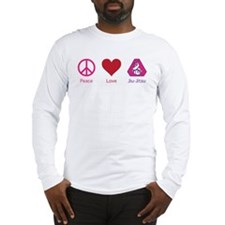 Peace, Love, BJJ 02 Long Sleeve T-Shirt