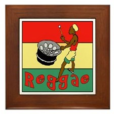 Reggae Drum Framed Tile