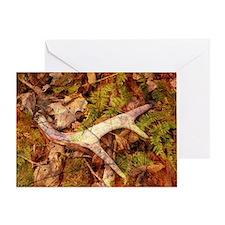 leaves camouflage deer antler Greeting Card