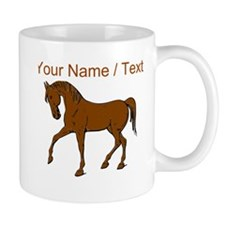 Custom Brown Horse Mugs