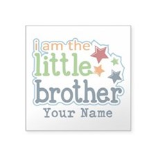 """Little Brother - Personalized Square Sticker 3"""" x"""