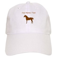 Custom Brown Horse Baseball Baseball Cap