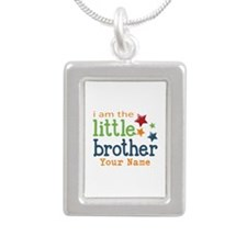 I am the Little Brother Silver Portrait Necklace