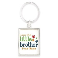 I am the Little Brother Portrait Keychain