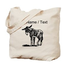 Custom Donkey Sketch Tote Bag